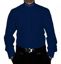 Camisa De Cuello Alto S6F Blanco Negro Azul Hombre camiseta