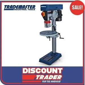 Trademaster Heavy Duty Pedestal Bench Drill Press Bench Mounted 16 Speed TD1316