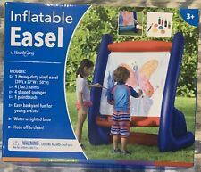 NEW☀️💦 Vinyl Inflatable Indoor Outdoor Easel for Kids W/ Paint Painting Summer