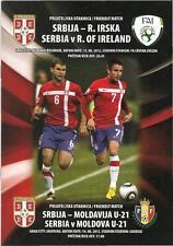 Programme Serbia - Ireland 15/08/2012 friendly