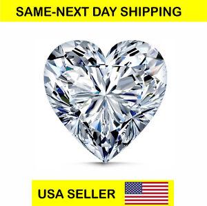 CUBIC ZIRCONIA Loose Heart Cut Stone CZ USA Shipper Best Quality 7x7 mm, 8x8mm.