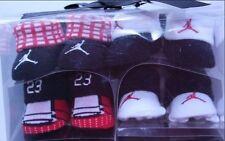 New Baby Boy's Nike Air Jordan Black/White Knitted Socks Booties 0-6 Months 4Pk