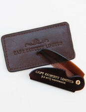 Captain Fawcett Folding Pocket 87T Moustache Comb with Leather Case Gift
