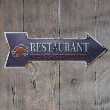 Metal Tin Sign restaurant sea food  Bar Pub Vintage Retro Poster Cafe ART