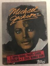 MICHAEL JACKSON 1984 Topps Unopened Pack 3 Cards + 3 Sticker Per Pack