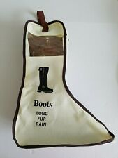 Set of 2 Boots Storage Bag with zipper and handle Brand New
