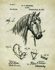 Horse Rodeo Patent Print Art Poster Western Antique Cowboy Saddle Spurs PAT249