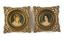 Cameo Creations Duchess de Montessque & Miss Conyngham Small Portraits Vintage