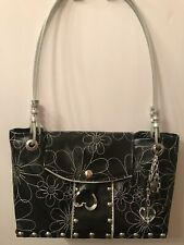 Tom Boy Totes Handbag Purse Shoulder Bag Rivets Studs Industrial Flowers NWOT