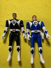 1993 Bandai Power Rangers 5.5? Tall Action Figure Black Ranger & Blue Ranger
