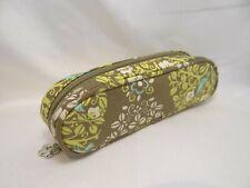 VERA BRADLEY Zipper Top Cloth Case in Brown For Glasses 32mm Authentic Unused