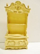 Vintage Dollhouse Furniture Barbie Doll Suzy Goose Plastic French Hutch Cabinet