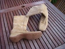 Görtz 17 Wildleder Stiefel Stiefeletten Lederstiefel beige 40 bequem