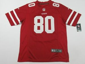 Jerry Rice #80 San Francisco 49ers Game On-Field Team Jersey Red
