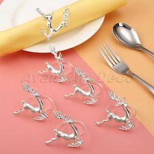 6X Deer Napkin Ring Antique Party Table Serviette Christmas Decorative Holder