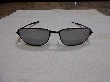 OAKLEY C Wire SUNGLASSES Black Frames With Silver O's & Silver Polarized lenses