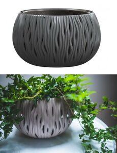 29cm Decorative Ceramic Effect Hanging Round Plant Pot Planter Outdoor Indoor