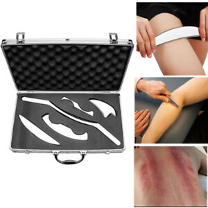 Stainless Steel Gua Sha Scraping Massage Tool IASTM Leg Arm Whole Body Acupoints