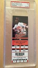 MIKE TROUT First MLB Home Run FULL TICKET 2011 PSA NM 7