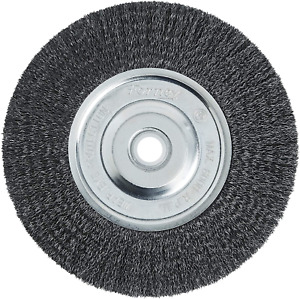 Wire Bench Wheel Brush Fine Crimped With 1/2-Inch And 5/8-Inch Arbor 6-Inch NEW