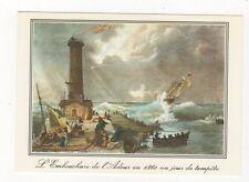Embouchure de l'Adour Bayonne Gravure de 1860 Modern Postcard 367a ^