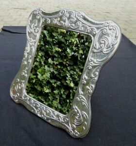 925 SILVER MIRROR DRESSING VANITY 34 X 32 CM 13/6 INCHES STERLING