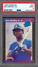 Ken Griffey Jr. 1989 Donruss #33 - RC - Seattle Mariners - PSA 9 - Mint