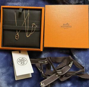 "Hermes ""Farandole"" 18K rose gold Pendant Necklace"