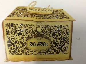 Wedding Card gold glitter Lock DIY Money Box Holder Holds 300 Cards Card Sign