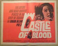 CASTLE OF BLOOD- HALF SHEET BARBARA STEELE Original, great condition 1964 RARE!