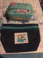 New! Japan Ribon Baby Cloth/Jean Zipper Case & Pouch! Cute Anime Takasuka