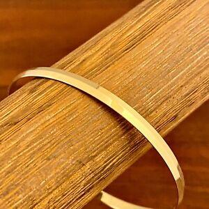 VINTAGE TIFFANY & CO. 14K YELLOW GOLD BANGLE BRACELET 4mm