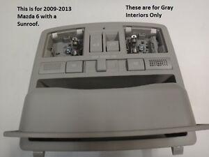 Mazda 6 Overhead Console in Gray 2009 2010 2011 2012 2013  with sunroof