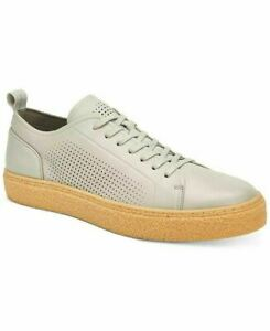 Calvin Klein Men Casual Lace Up Sneakers Everett Size US 10M Light Grey Leather