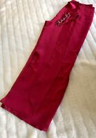 Red Silk Trousers 100% Silk Sz UK10 Leg 31 Lined Wide Leg Wedding Cruise Holiday