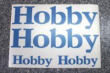 Hobby Aufkleber für Wohnmobil, Reisemobil, Wohnwagen in blau