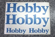 Hobby Wohnmobil, Reisemobil, Wohnwagen Aufkleber in blau