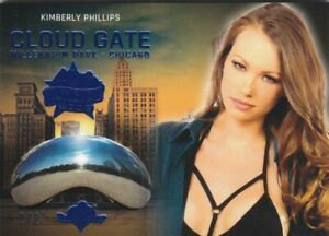 2019 BENCHWARMER 40TH NATIONAL KIMBERLY PHILLIPS BLUE FOIL CLOUD GATE CARD /2