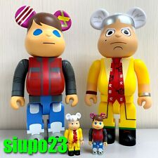 Medicom 400% + 100% Bearbrick ~ Back to the Future Be@rbrick Dr Brown & Marty 2p