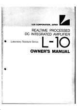 Owner's Manual-Istruzioni-per LUXMAN l-10