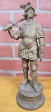 Antique GLADIATOR WARRIOR Decorative Art Statue DRAGON MONSTER Helmet Sword