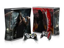 Xbox 360 slim skin Design volets Autocollant Film de protection set-Death motif