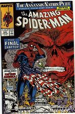 Amazing Spiderman #325 comic 1989  d   Silver Sable  Captain America