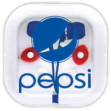 PEPSI EAR PHONES - EAR BUDS -  EXTENDED BASE - iPOD - MP3 - CELL PHONE - (NEW)