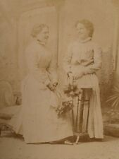 Cabinet Photo of Two Maids with Feather Dusters