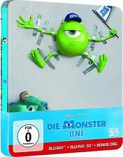 DIE MONSTER UNI (Walt Disney, PIXAR) Blu-ray 3D + Blu-ray Disc, Steelbook NEU