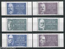 FRANCE - 1987, timbres 2454a/2459a, CELEBRITES, gomme brillante, neufs**, MNH