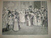Children's Fancy Dress Ball Mansion House London 1892 old print