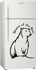 Present, Gift 2, Bundy Bear Fridge, Bar, Rum Sticker Decal, 580 x 400mm