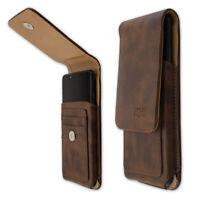 caseroxx Sac d'extérieur pour Nokia 7.2 en brun fait de cuir veritable